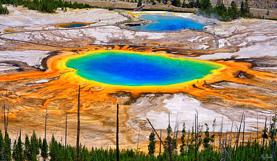 Photograph - Grand Prismatic Spring Limited Edition by Greg Norrell