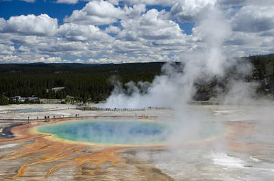 Crystal Wightman Rights Managed Images - Grand Prismatic Spring Royalty-Free Image by Crystal Wightman