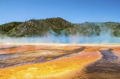 Photograph - Grand Prismatic Spring - Yellowstone National Park by Brian Harig