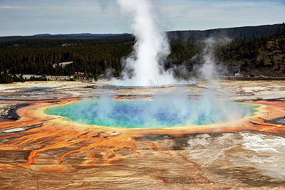 Awe Wall Art - Photograph - Grand Prismatic Spring, Yellowstone Park by Marco Brivio
