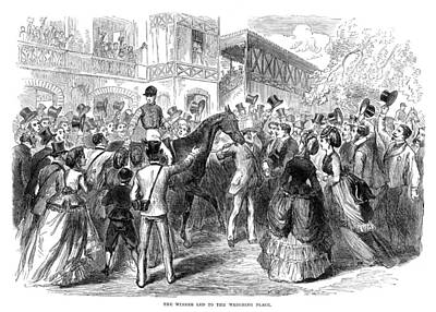 Congratulating Painting - Grand Prix De Paris, 1870 by Granger