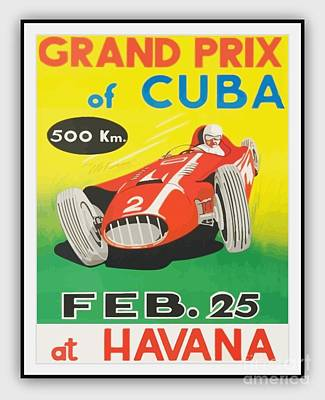 Painting - Grand Prix Of Cuba by Roberto Prusso