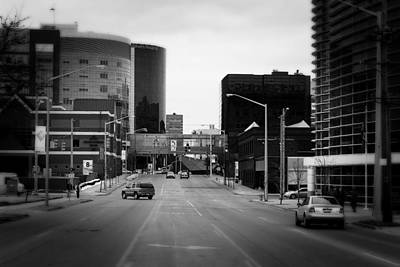 Photograph - Grand Rapids 1 - Black And White by Scott Hovind