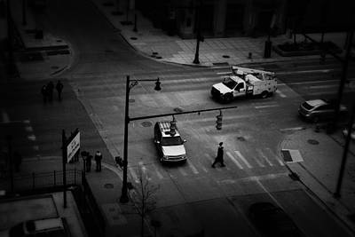 Photograph - Grand Rapids 13 Black And White by Scott Hovind