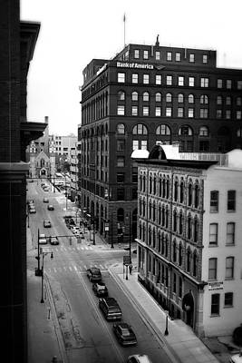 Photograph - Grand Rapids 7 - Black And White by Scott Hovind