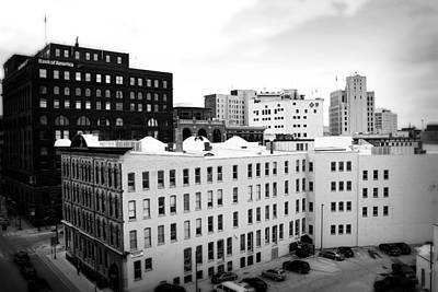 Photograph - Grand Rapids 8 - Black And White by Scott Hovind