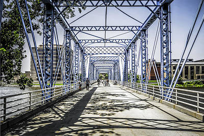 Grand Rapids Bridge Art Print