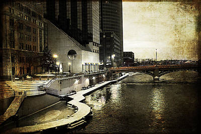 Grand Rapids Grand River Art Print by Evie Carrier