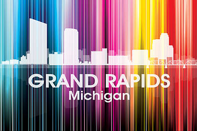 Rapid Mixed Media - Grand Rapids Mi 2 by Angelina Vick
