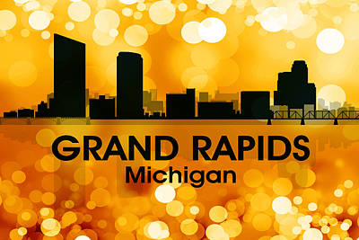 Rapid Mixed Media - Grand Rapids Mi 3 by Angelina Vick