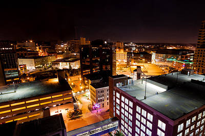 Photograph - Grand Rapids Night   by Lars Lentz