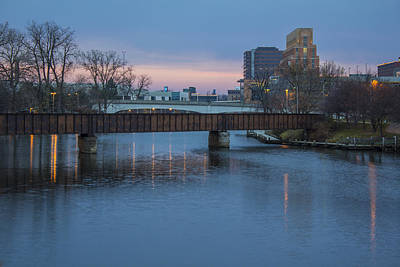 Photograph - Grand River In Lansing Michigan by John McGraw