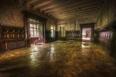 Creepy Digital Art - Grand Room by Nathan Wright