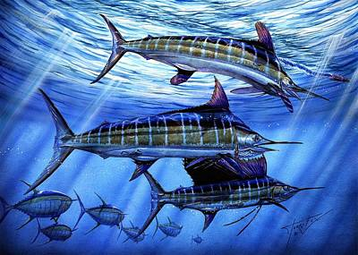 Sailfish Painting - Grand Slam Lure And Tuna by Terry Fox