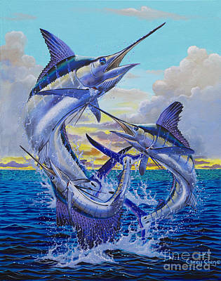 Blue Marlin Painting - Grand Slam Off0016 by Carey Chen