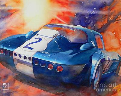 Chevrolet Painting - Grand Sport by Robert Hooper