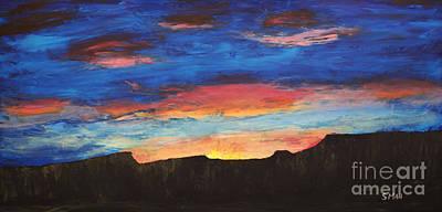 Grand Sunrise Art Print by Sarah Mah