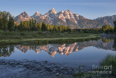 Out West Photograph - Grand Teton Awakening by Sandra Bronstein