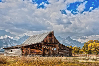 Photograph - Grand Teton Barn by Sonya Lang