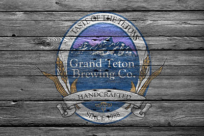 Teton Wall Art - Photograph - Grand Teton Brewing by Joe Hamilton