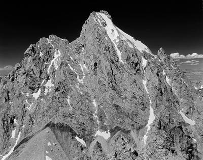 Photograph - 409224-bw-grand Teton From Middle Teton by Ed  Cooper Photography