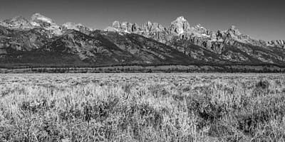 Digital Art - Grand Teton Mountain Range by Sandra Selle Rodriguez