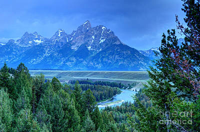 Owens River Photograph - Grand Teton  - Snake River Overlook  by Gary Whitton