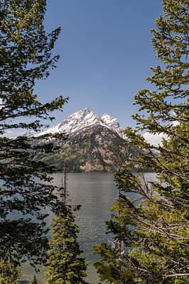 Photograph - Grand Teton On Jenny Lake - Grand Teton National Park Wyoming by Brian Harig