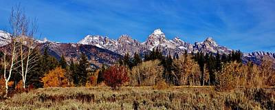 Photograph - Grand Teton Panorama by Benjamin Yeager