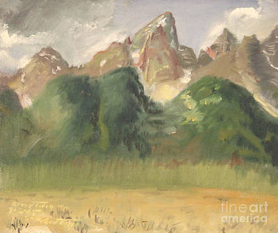 Painting - Grand Teton Range by Art By Tolpo Collection