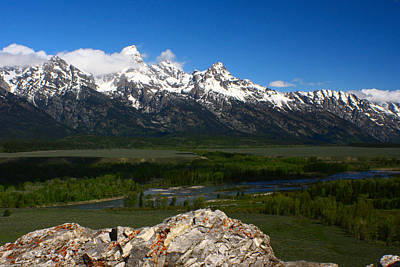 Photograph - Grand Teton Range by Jon Emery