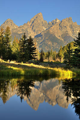 Photograph - Grand Teton Reflection by Alan Vance Ley