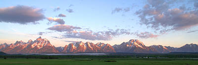 Photograph - Grand Teton Sunrise Panorama by Brian Harig