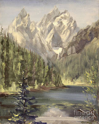Painting - Grand Tetons - Jenny Lake 1937 by Art By Tolpo Collection
