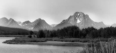 Photograph - Grand Tetons Bw by Ron White