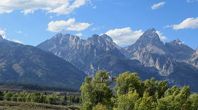Grand Tetons Art Print by Diane Mitchell