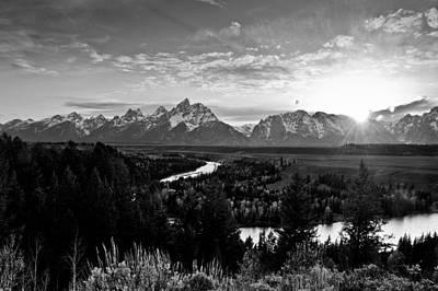 Photograph - Grand Tetons by Greg Wyatt