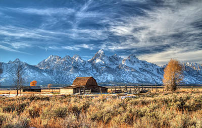 Photograph - Grand Tetons Iconic Landscape In Hdr by Pierre Leclerc Photography