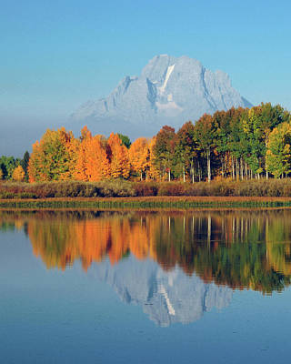 Grand Tetons In Autumn From The Oxbow Art Print