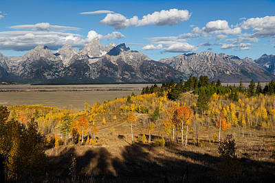 Photograph - Grand Tetons In Autumn by Kathleen Bishop