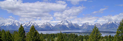 Photograph - Grand Tetons Over Jackson Lake Panorama 2 by Brian Harig