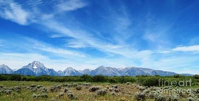 Photograph - Grand Tetons Panorama by Ausra Huntington nee Paulauskaite