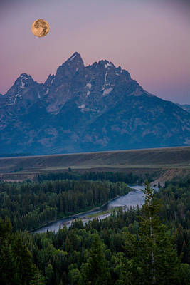 Firefighter Patents Royalty Free Images - Grand Tetons Super Moon Royalty-Free Image by Randall Branham