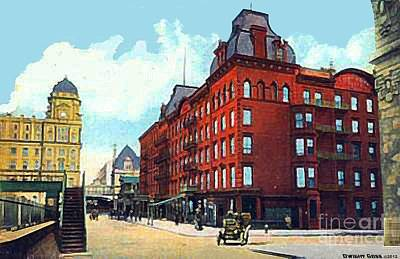 Painting - Grand Union Hotel And Grand Central Station In New York City 1910 by Dwight Goss