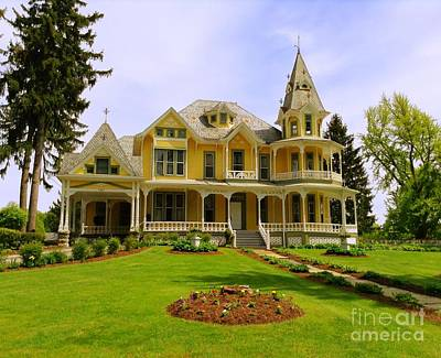 Photograph - Grand Yellow Victorian by Becky Lupe
