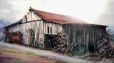 Painting - Grandaddy's Barn by Melodye Whitaker