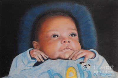 Mixed Media - Grandbaby John by Lora Duguay