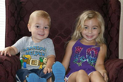 Photograph - Grandchildren by Heidi Poulin