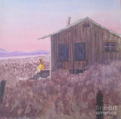 Granddad's Cabin Art Print