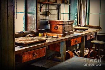 Granddad's Work Bench Art Print by Paul Ward